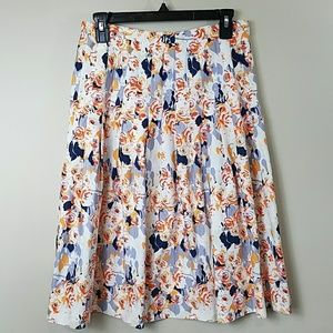 Isabella DeMarco Floral Pleated A-line Skirt